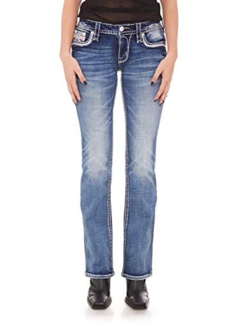 Rock Revival - Womens Peach Bud B202 Bootcut Jeans