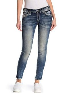 - Womens Betty Embellished Skinny Jeans