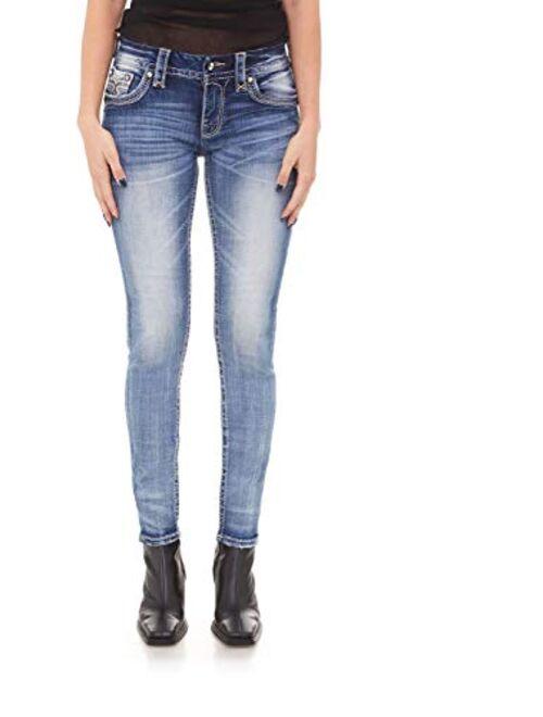 Rock Revival - Womens Mars Red S203 Skinny Jeans