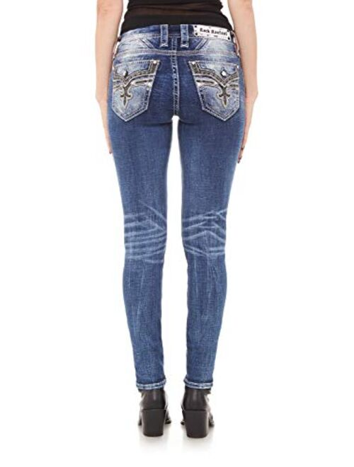 Rock Revival - Womens Rio Red S202 Skinny Jeans