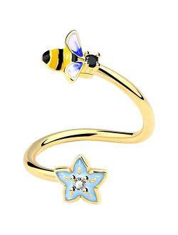 OUFER Helix Earrings Lip Rings Labret 16G 316L Stainless Steel Twist Bee Flower Labret Piercing Jewelry Belly Rings Cartilage Earring