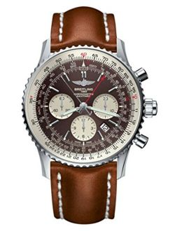 Tling Navitimer Rattrapante Bronze Watch Ab031021, Light Brown Gold Leather Strap, Tang Buckle