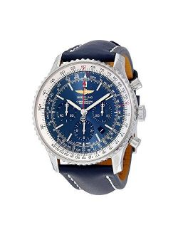 Navitimer 01 Chronograph Automatic Blue Dial Blue Leather Mens Watch Ab012721-c889bllt
