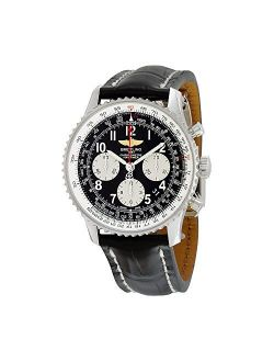 Navitimer 01 Chronograph Black Dial Black Leather Mens Watch Ab012012/bb02bkcd