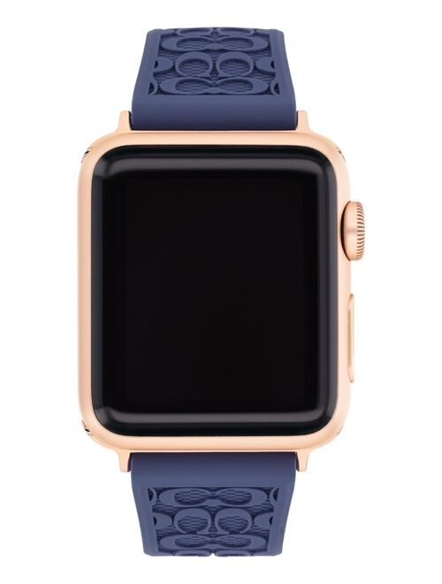 Coach Blue Rubber 38/40mm Apple Watch® Band