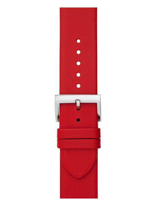 Tory Burch Women's McGraw Red Band For Apple Watch® Leather Strap 38mm/40mm