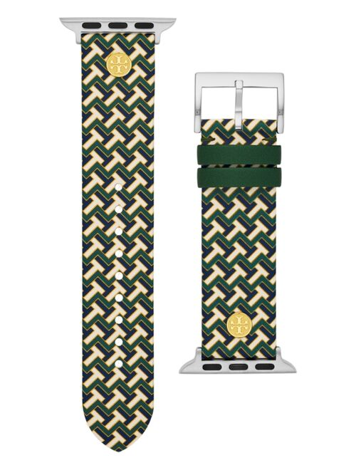 Tory Burch Women's T-Zag Multi-Color Band For Apple Watch® Leather Strap 38mm/40mm