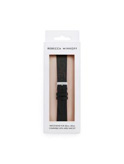 Womens Apple Watch® Strap Black Perforated Leather