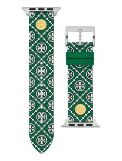Women's Green Medallion Print Band For Apple Watch® Leather Strap 38mm/40mm