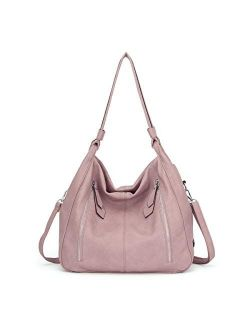Women Handbags Shoulder Bags PU Leather Satchel Tote Bag Mutipocket Purse