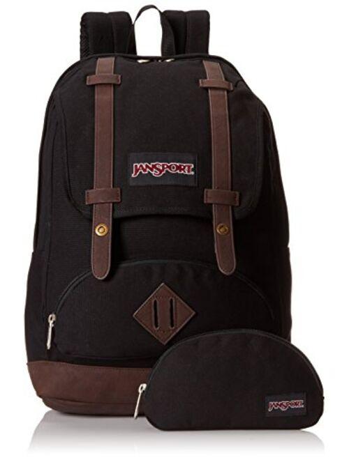 JanSport Baughman Backpack - Black / 17.5H x 12.6W x 5.7D
