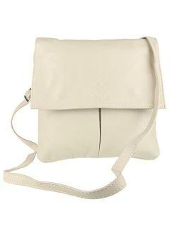 S Double Pocket Italian Leather Messenger Bag