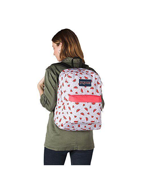 JanSport SuperBreak Watermelon Rain Backpack
