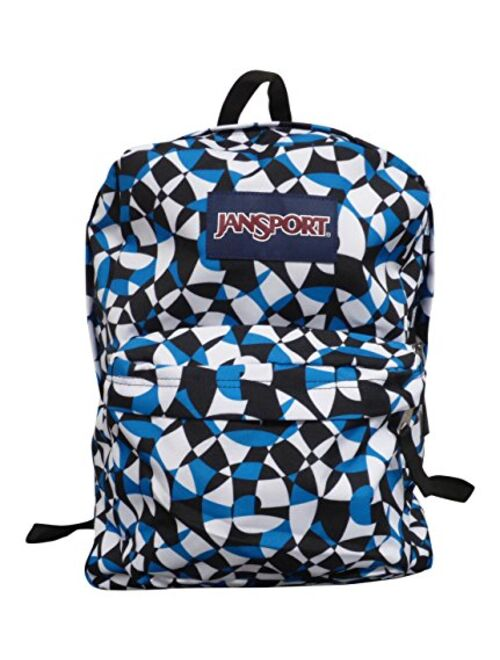 JanSport Classic SuperBreak Backpack, Hedge Green (Blue Dizzy Swirl, One Size)