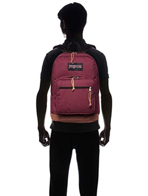 JanSport Right Pack Laptop School Backpack in Russet Red