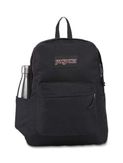 Superbreak Backpack - School, Travel, Or Work Bookbag With Water Bottle Pocket