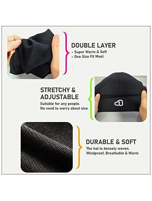 Leggings Depot Women Men Unisex Stretchable Warm Winter Fashion Knit Beanie Hat