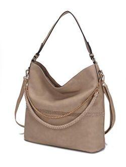 MKF Crossbody for Women - Adjustable Shoulder Strap - PU Leather Top-Handle Handbag Purse Satchel-Tote Bag Charm