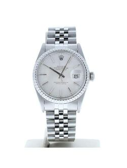 Mens Datejust Watch Model 16030 Silver Stick Dial & Engine Bezel (certified Preowned)