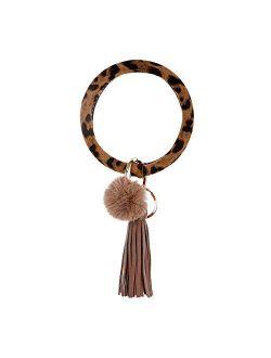 Wristlet Keychain Bracelet Bangle Keyring Round Silicone Key Ring Keychain Gift Keyring Bracelet For Women Girls