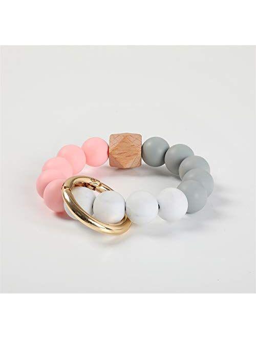 MONOBLANKS Wristlet Wallet Bracelet Keychain,Card Holder Purse Tassel Keychain Bangle Key Ring for Women