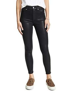 7 For All Mankind Women's High Waisted Skinny Jeans with Faux Pockets