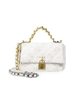 Womens Steve Madden Daisey Top Handle Bag, White Multi, 9.5 L X 3 D 6.5 H Us