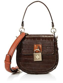 Womens Steve Madden Amalia Half Moon Crossbody Bag, Brown, 8 L X 2.5 D 7 H Us