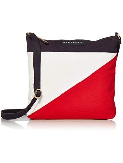 Crossbody For Women Th Flag Canvas, Navy/red/white