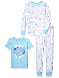 Girls' Disney Star Wars Marvel Frozen Princess Snug-fit Cotton Pajamas Sleepwear Sets