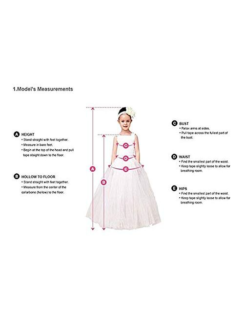Vintage Flower Girls First Communion Dresses with Lace Sleeves Long Pageant Ball Gown
