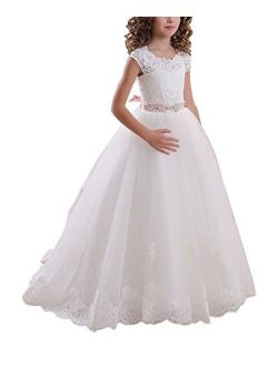 Ball Gown Lace Up First Flower Communion Girl Dresses