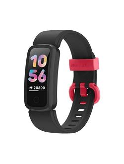 BIGGERFIVE Fitness Tracker Watch for Kids Girls Boys Teens, Activity Tracker, Pedometer, Heart Rate Sleep Monitor, IP68 Waterproof Calorie Step Counter Watch with Alarm C