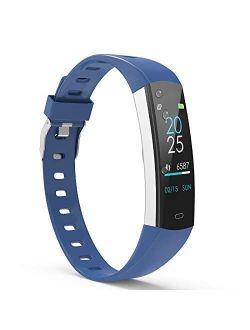 YoYoFit Slim Kids Fitness Tracker Heart Rate Monitor, Kids Activity Tracker Waterproof Pedometer Watch, Digital Kids Alarm Clock Step Calorie Sleep Health Tracker as Best