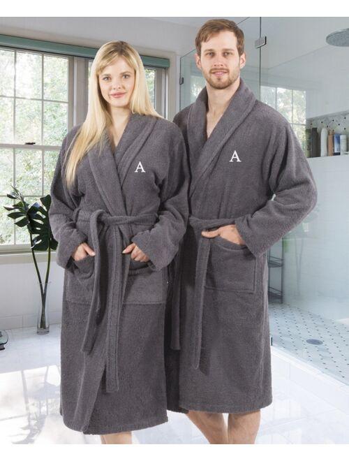 100% Turkish Cotton Personalized Terry Bath Robe - Gray