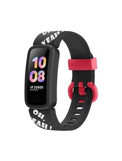 BIGGERFIVE Fitness Tracker Watch for Kids Girls Boys Teens, Activity Tracker, Pedometer, Heart Rate Sleep Monitor, Vibrating Alarm Clock, IP68 Waterproof Calorie Step Cou