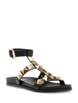 Women's Daft Rockstud Gladiator T-strap Ankle Strap Platform Sandal
