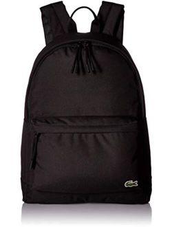 Solid Zipper Closure Backpack