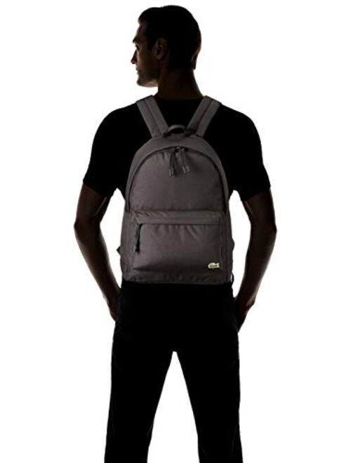 Lacoste Solid Zipper Closure Backpack