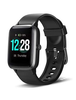 LETSCOM Smart Watch Fitness Tracker Heart Rate Monitor Step Calorie Counter Sleep Monitor Music Control IP68 Water Resistant 1.3 Inch Color Touch Screen Activity Tracking