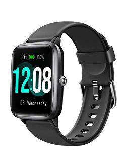 Letsfit Smart Watch, Fitness Tracker with Heart Rate Monitor, Activity Tracker with 1.3 Inch Touch Screen, IP68 Waterproof Pedometer Smartwatch with Sleep Monitor, Step C