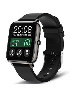 Smart Watch, Popglory Smartwatch with Blood Pressure, Blood Oxygen Monitor, Fitness Tracker with Heart Rate Monitor, Full Touch Fitness Watch for Android & iOS for Men Wo