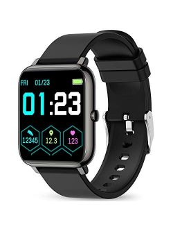 Smart Watch, KALINCO Fitness Tracker with Heart Rate Monitor, Blood Pressure, Blood Oxygen Tracking, 1.4 Inch Touch Screen Smartwatch Fitness Watch for Women Men Compatib