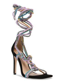 Women's Slip Tie-Up Rope Round Toe Sandals