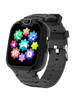 Kids Smart Watch for Boys Girls - Kids Phone Smartwatch with Calls 14 Games S0S Camera Video Music Player Clock Calculator Flashlight Touch Screen Children Smart Watch Gi