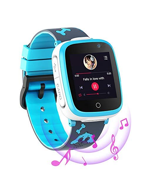 Efolen 4G Smart Watch for Kids - Smartwatch with GPS WiFi LBS Tracker Real Time Position HD Touch Screen SOS Video Call Waterproof Message Compatible Android and iOS for