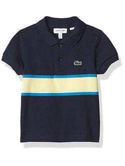 Boys' Short Sleeve Bold Stripe Polo T-shirt