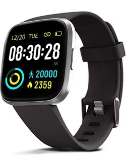 MorePro Smart Watch 10 Sport Modes IP69 Waterproof Fitness Tracker with Heart Rate Blood Pressure Monitor,Sleep Tracking Fitness Watch with Android iOS Calorie Step Count
