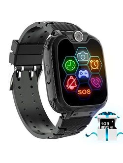 Smart Watch for Kids - Kids Smartwatch Boys Girls Kids Smart Watches with Call Camera 7 Children Learning Games Alarm Clock Music Player Calculator for 4-12 Years Kids El