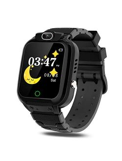 CMKJ Kids Smartwatch with 7 Games, Waterproof Watch for Children with MP3 & MP4 Player, Touchscreen Gaming Watch Gift for 2-13 Years Old Girls and Boys, with 2GB Memory C